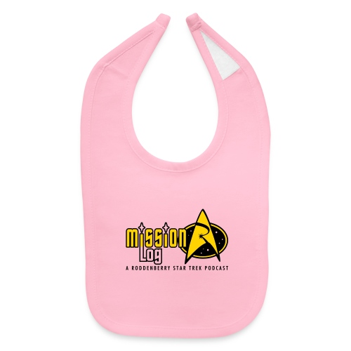 Logo Wide 2 Color Black Text - Baby Bib