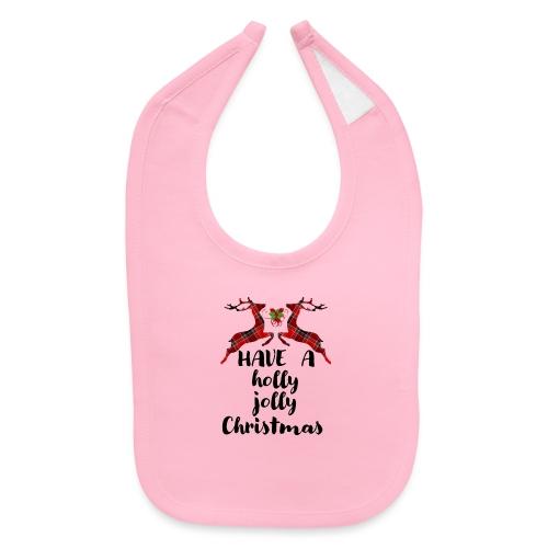 Holly Jolly Christmas - Baby Bib