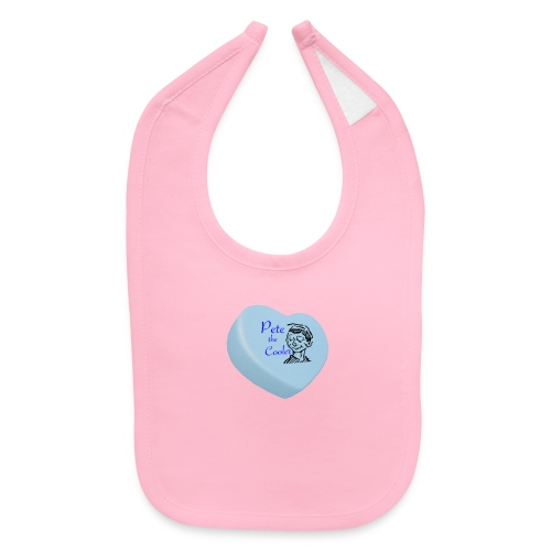 Pete the Cooler Candy Heart - blue - Baby Bib