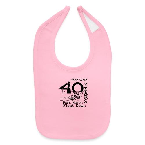 Port Huron Float Down 2017 - 40th Anniversary Shir - Baby Bib