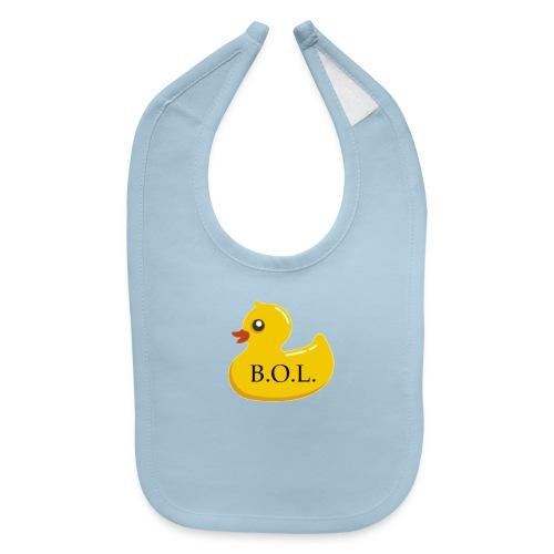 Official B.O.L. Ducky Duck Logo - Baby Bib