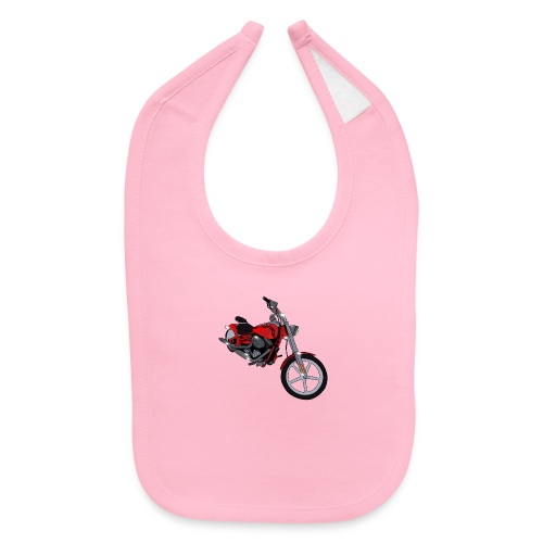 Motorcycle red - Baby Bib