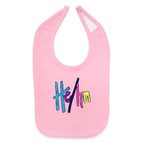 He/Him 1 - Large - Baby Bib