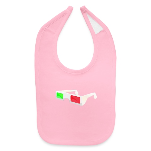 3D red green glasses - Baby Bib