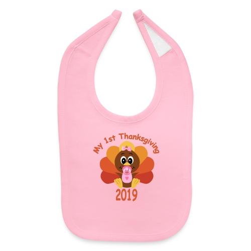 1st Thanksgiving-girl - Baby Bib