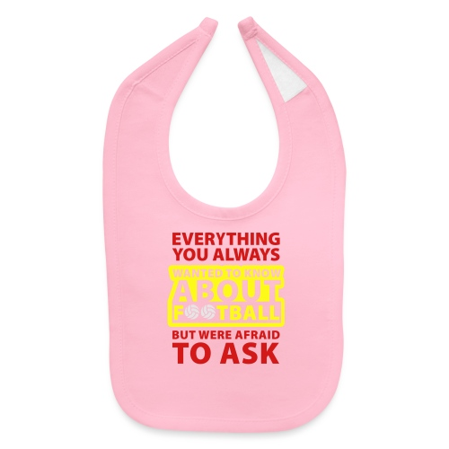 Every thing about football - Baby Bib