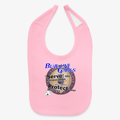 Thin Blue Line - To Serve and Protect - Baby Bib