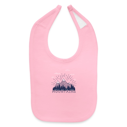 Adventure Mountains T-shirts and Products - Baby Bib