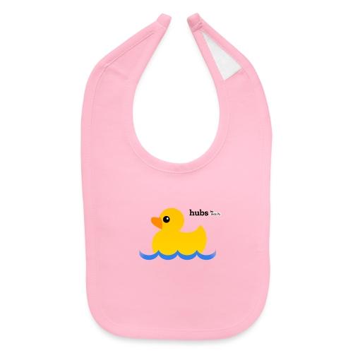 Hubs Duck - Wordmark and Water - Baby Bib