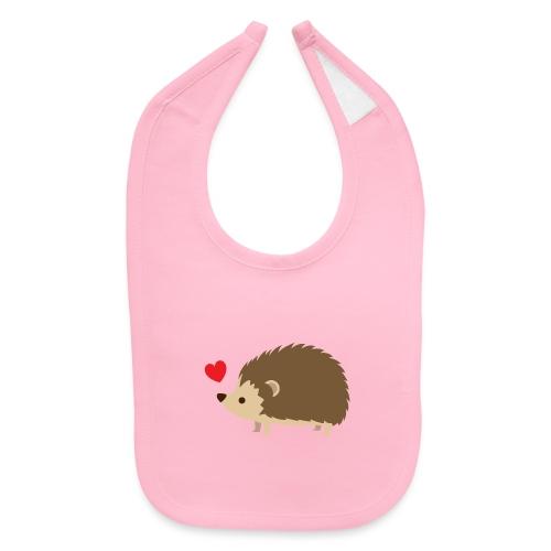 Hedgehog with Heart - Baby Bib
