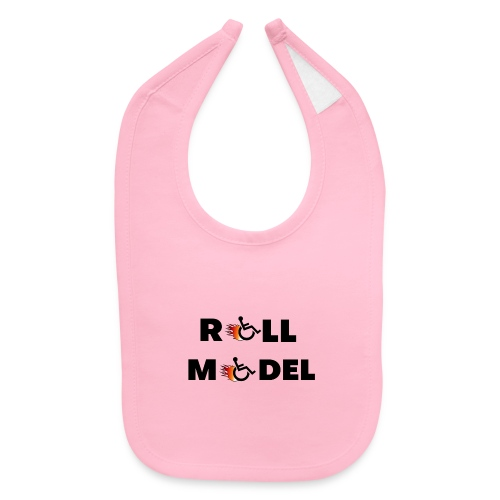 Roll model in a wheelchair, for wheelchair users - Baby Bib