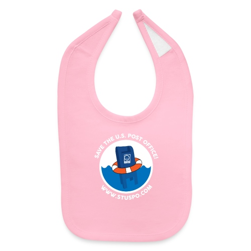 Save the U.S. Post Office - White - Baby Bib