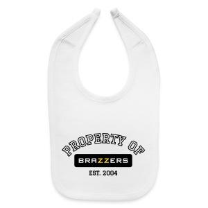 Property of Brazzers logo - Baby Bib