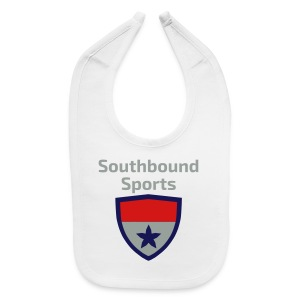 The Southbound Sports Shield Logo. - Baby Bib