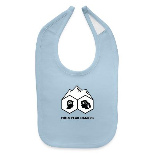 Pikes Peak Gamers Logo (Solid White) - Baby Bib
