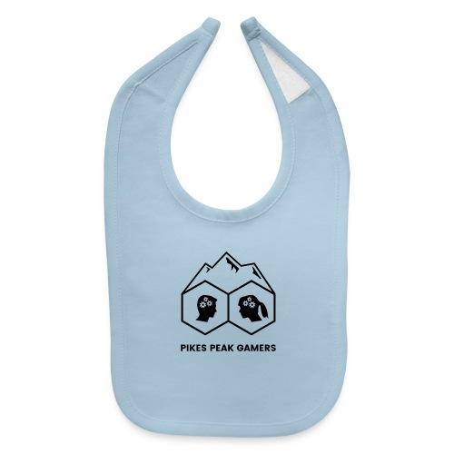 Pikes Peak Gamers Logo (Transparent Black) - Baby Bib