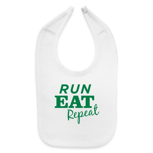 Run Eat Repeat buttons medium - Baby Bib
