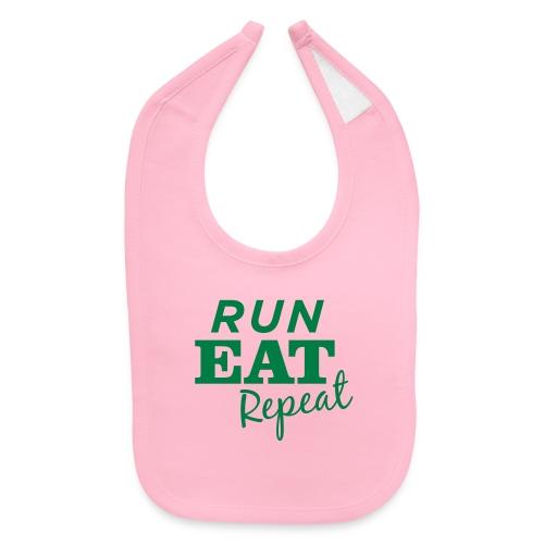 Run Eat Repeat buttons medium - Baby Bib