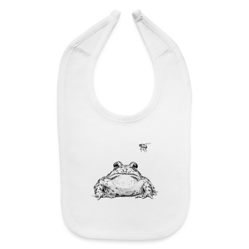 Frog with Fly by Imoya Design - Baby Bib