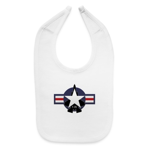 F-35 Lightning II Military Jet Fighter Aircraft - Baby Bib