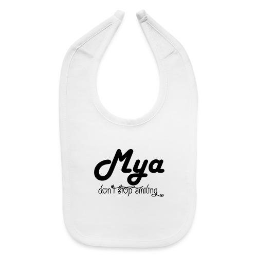 Mya, Dont Stop Smiling (Black) - Baby Bib