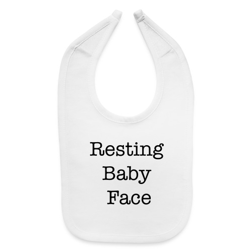 Resting Baby Face Baby Shower - Baby Bib