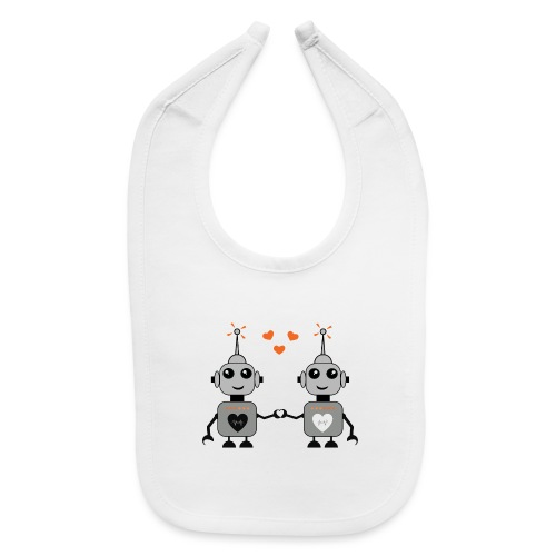 Robot Couple - Baby Bib