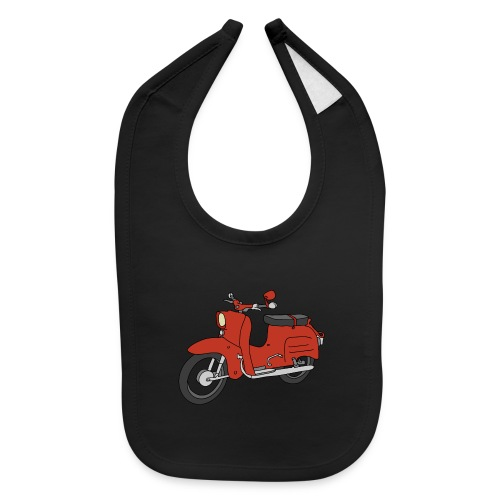 Schwalbe, ibiza-red scooter from GDR - Baby Bib