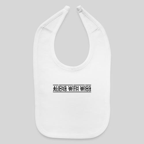 AliensWithWigs-Logo-Noir - Baby Bib