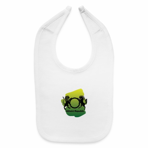 Atheist Republic Logo - Yellow & Green Paint - Baby Bib
