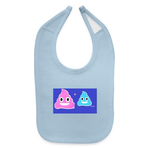 blue and pink poop - Baby Bib