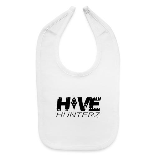Hive Hunterz Black Logo - Baby Bib