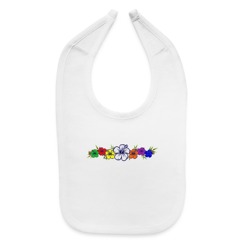 Colorful Hibiscus Flowers and Bamboo Shoot - Baby Bib