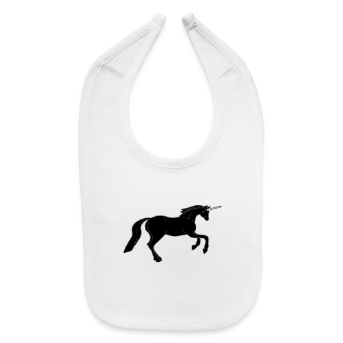 unicorn black - Baby Bib