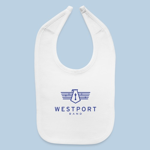 Westport Band Blue on transparent - Baby Bib