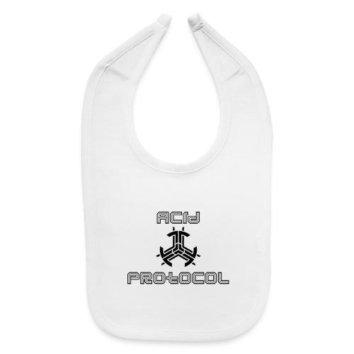 ACID PROTOCOL OFFICIAL LOGO BLACK - Baby Bib