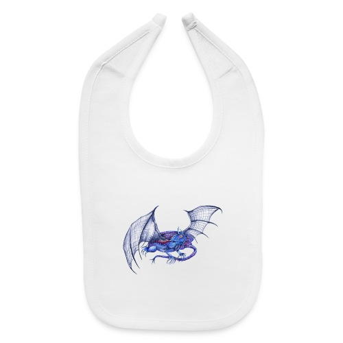Long tail blue dragon - Baby Bib