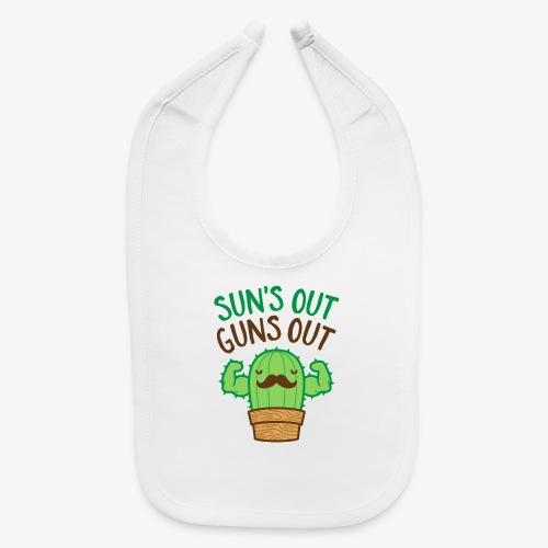 Sun's Out Guns Out Macho Cactus - Baby Bib