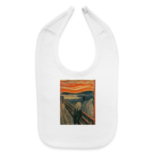The Scream (Textured) by Edvard Munch - Baby Bib