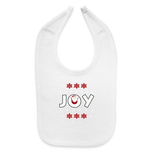 Christmas JOY Santa Clause Ugly Style - Baby Bib
