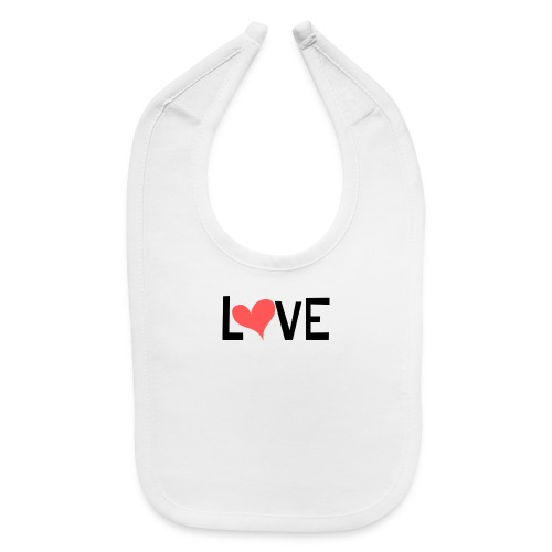LOVE heart - Baby Bib