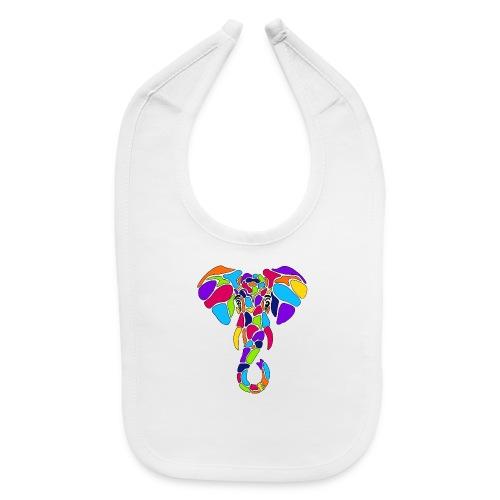 Art Deco elephant - Baby Bib