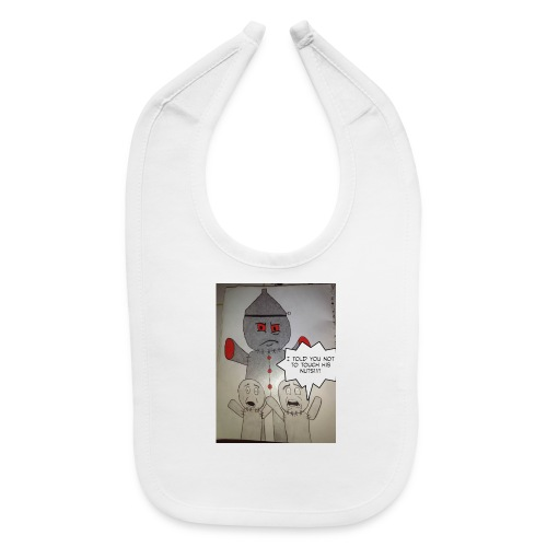 Don't touch his nuts - Baby Bib