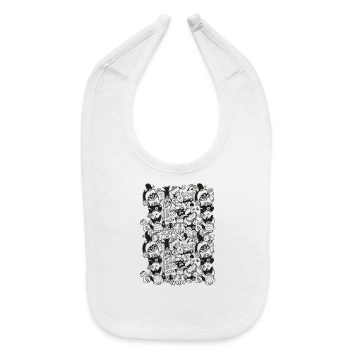 Doodles get crazy when posing for a pattern design - Baby Bib