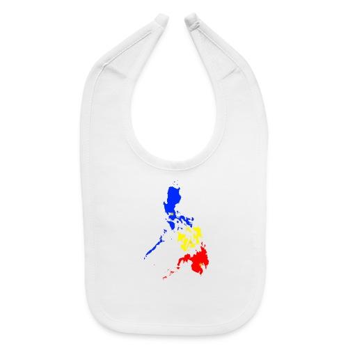 Philippines map art - Baby Bib