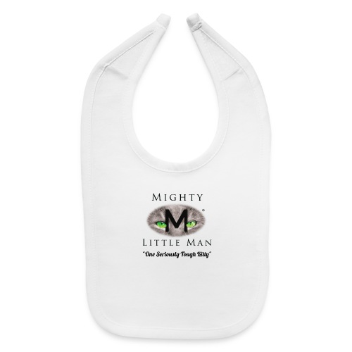 MIGHTY LITTLE MAN Logo - Baby Bib