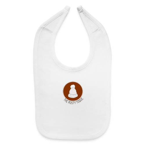 The Rusty Toque Brown Logo with Black Text - Baby Bib