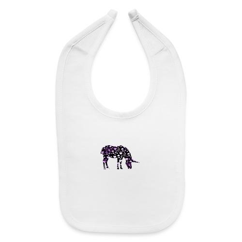 Unicorn Hearts purple - Baby Bib