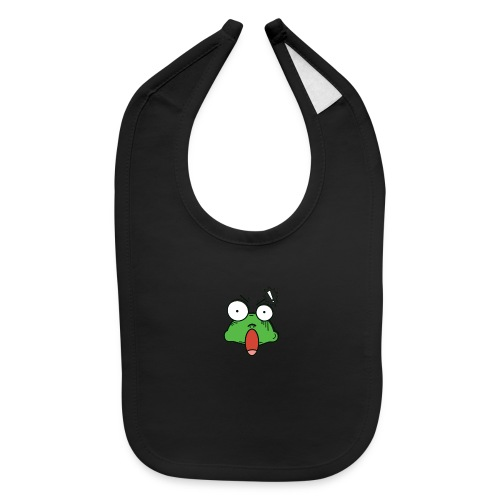 Frog with amazed face expression - Baby Bib
