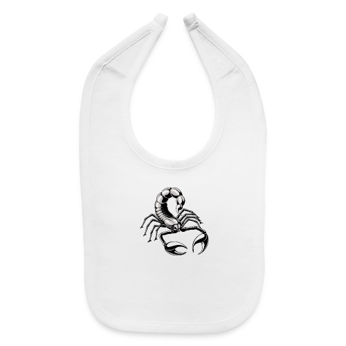 scorpion - silver - grey - Baby Bib